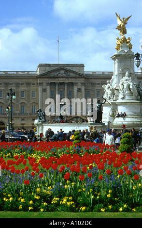 Buckingham Palace London England - Stock Image