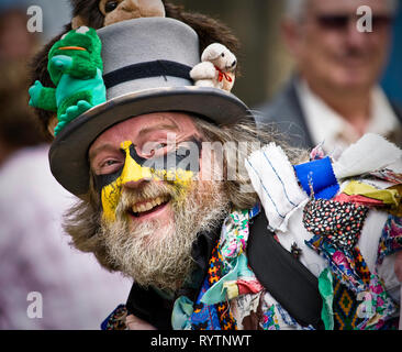 A Morris man at a festival in Lincoln. - Stock Image