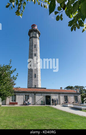 Phare des Baleines, lighthouse, Ile de Re, Nouvelle-Aquitaine, french westcoast, france, - Stock Image