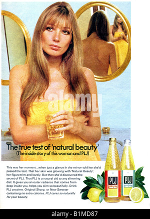 1970 Advertisement for  PLJ Pure Lemon Juice FOR EDITORIAL USE ONLY - Stock Image