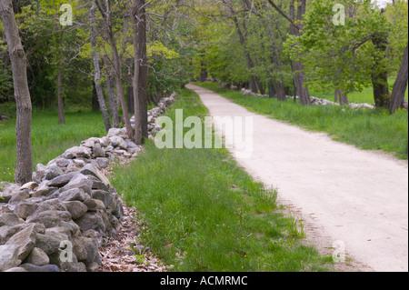 Battle Road Minuteman National Park Concord Massachusetts - Stock Image
