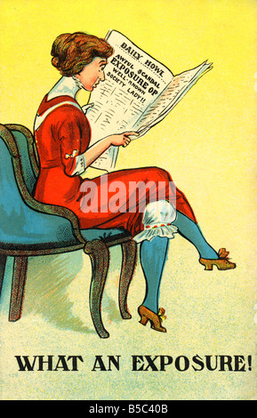 1914 comic art Postcard 1910s EDITORIAL USE ONLY - Stock Image