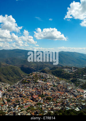 A panoramic view of Taxco - Stock Image