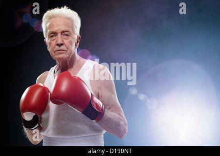 Senior male boxer - Stock Image