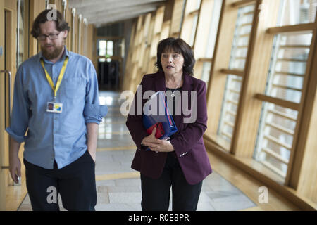 Politicians attend the Scottish First Minister's Questions at Holyrood.  Featuring: Jeane Freeman Where: Edinburgh, United Kingdom When: 04 Oct 2018 Credit: Euan Cherry/WENN - Stock Image