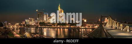 Frankfurt Skyline Panorama - Stock Image