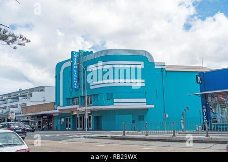 United cinema,Sydney northern beach  suburb, Collaroy Australia. - Stock Image