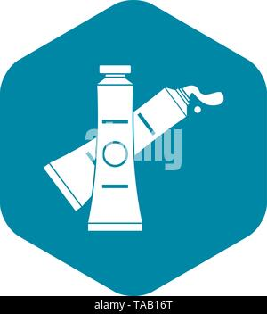 Oil paints icon, simple style - Stock Image