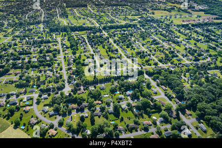 Aerial view Of Suburbs, Pennsylvania, USA - Stock Image