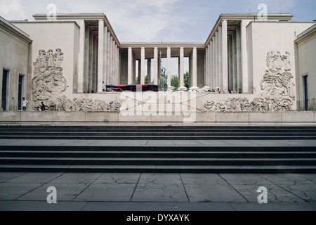 View of the entrance of the Palais de Tokyo (Tokyo Palace) which houses the Museum of Modern Art in the city of Paris, France. - Stock Image