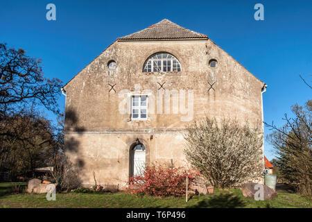 Gutshaus Friedenfelde, Listed manor house in Gerswalde village Friedenfelde, in Brandenburg, Germany. - Stock Image