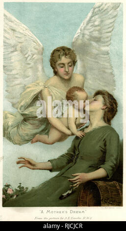 A Mother's Dream by A E Emslie. - Stock Image