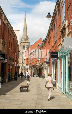People shopping in High Street, Prince Bishops Shopping Centre, Durham City, England, UK - Stock Image