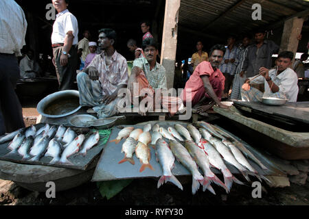 BANGLADESH Fish on sale at market at Haluaghat, Mymensingh region photo by Sean Sprague - Stock Image