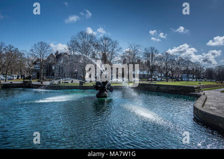 fountain port sunlight wirral merseyside north west england uk - Stock Image