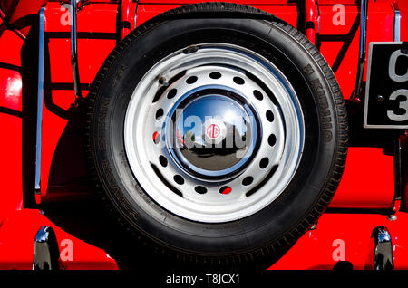 Rear View of MG sports car - Stock Image