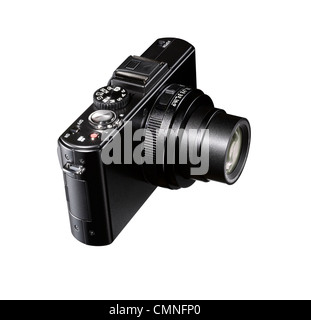 A cut out of a black camera - Stock Image