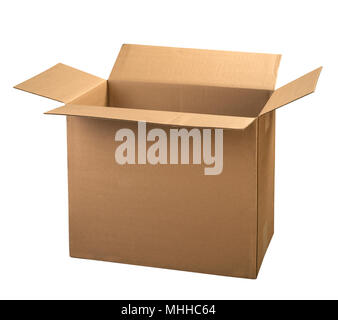 Corrugated Cardboard Box - Stock Image