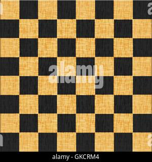 vintage crack old scratched empty chess board. abstract grunge background - Stock Image