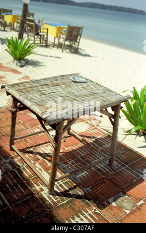 Rattan table - Stock Image