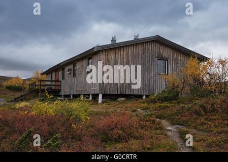 Syter hut, Kungsleden trail, Lapland, Sweden - Stock Image