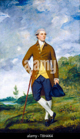 Sir Joshua Reynolds, John Musters, portrait painting, c. 1777 - Stock Image