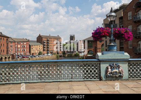 New Leeds Bridge, Leeds, England - Stock Image