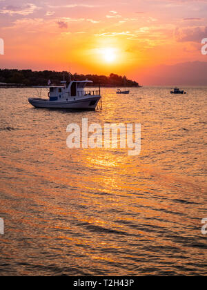 Thasos sunsets at their best - Stock Image