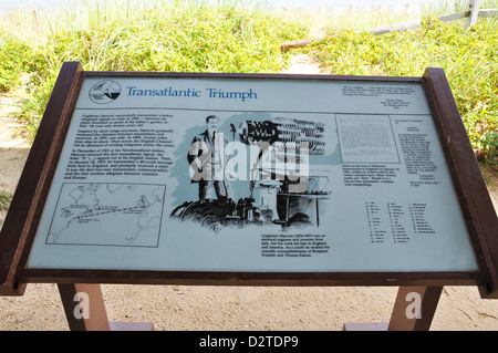 Marconi Station site, Cape Cod, Massachusetts, USA - First transatlantic wireless transmission in 1903 - Stock Image