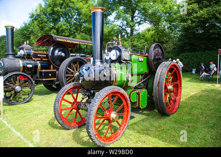 90th Kent County Show, Detling, 6th July 2019. Aveling and Porter  5 Ton steam Tractor was built in 1918. - Stock Image