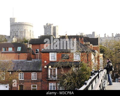 Windsor Castle, Windsor, Berkshire, UK. - Stock Image