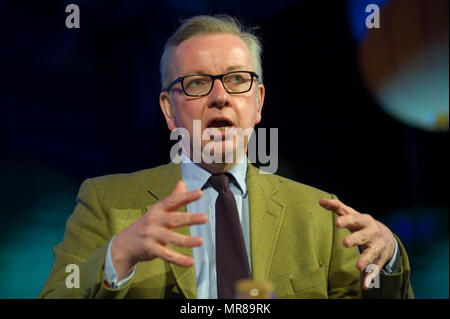 Michael Gove MP, Secretary of State for the Environment, Food and Rural Affairs speaking at Hay Festival 2018, Hay on Wye, Powys, Wales, UK - Stock Image