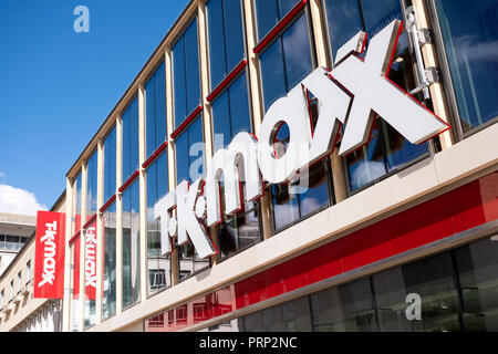 A large tK Maxx store in central Bristol UK clearly showing the company name and branding on the front of the building - Stock Image