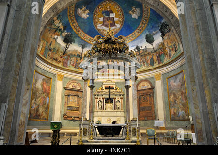 italy, rome, basilica of santa croce in gerusalemme - Stock Image