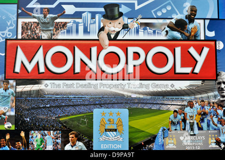 Manchester City FC Edition Monopoly - Stock Image
