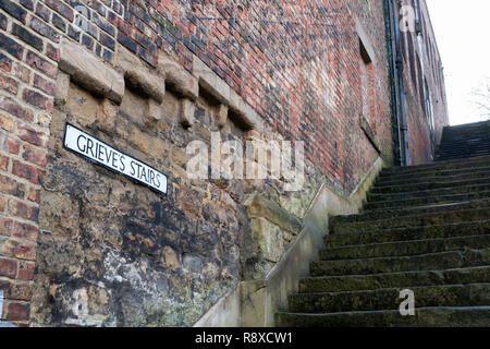 Grieve's Stairs, North Shields, north east England, UK - Stock Image