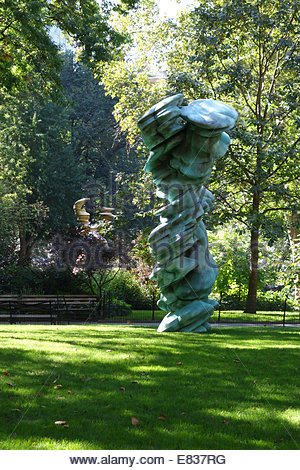 Tony Cragg sculpture, 'Mixed Feelings,' on display at Madison Square Park in New York City - Stock Image