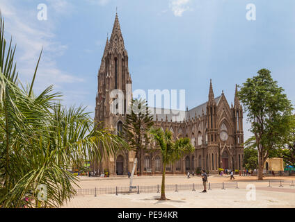 St. Philomenas Cathedral, Mysore, India - Stock Image
