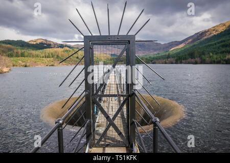 Gleann Dubh reservoir, Barcaldine, Scotland. - Stock Image