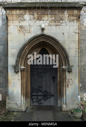 Doorway of St George's Church, Stamford, Lincolnshire, England - Stock Image