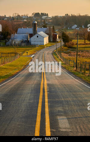 Pennsylvania Dutch Country, farm near New Holland, Lancaster County - Stock Image