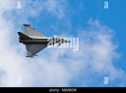 Eurofighter Typhoon FGR4 at Biggin Hill Airshow - Stock Image