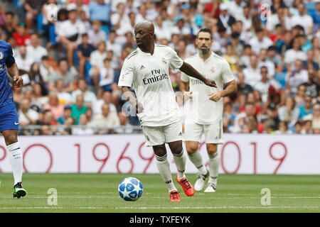 Madrid, Spain. 23rd June, 2019. Claude Makelele (Real) Football/Soccer : Friendly 'Corazon Classic Match 2019' between Real Madrid Leyendas 5-4 Chelsea Legends at the Santiago Bernabeu Stadium in Madrid, Spain . Credit: Mutsu Kawamori/AFLO/Alamy Live News - Stock Image