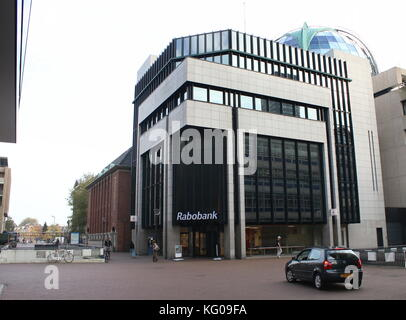 Rabobank main office in Leeuwarden, The Netherlands at Zaailand street - Stock Image