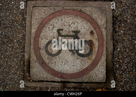 Cycle Sign - Stock Image