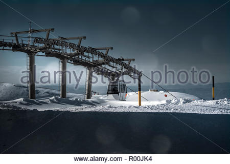 Ski lift at resort in Spain - Stock Image