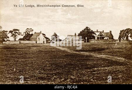 Minchinhampton Common, Gloucestershire, England - Ye Old Lodge. - Stock Image