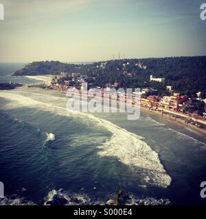 A view of lighthouse beach, kovalum, Kerala, India - Stock Image
