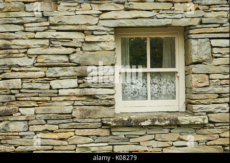 Abstract image showing a window in a wall - Stock Image