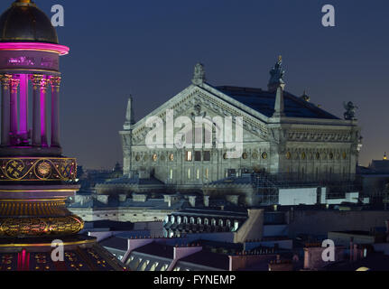 The Opera House at twilight Paris France - Stock Image